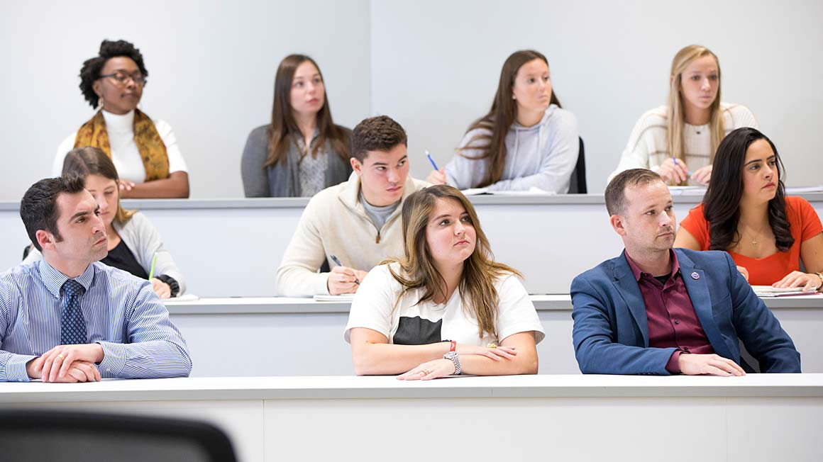 Students in the classroom at Bryant